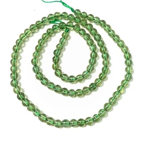 Бусины апатит зеленый шар гладкий 4,3 мм