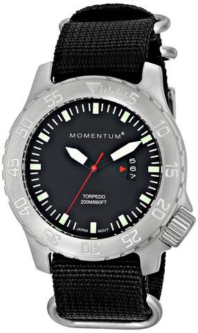 Купить Часы для дайверов Momentum Torpedo Black Mineral (нато) по доступной цене