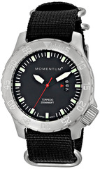 Часы для дайверов Momentum Torpedo Black Mineral (нато)