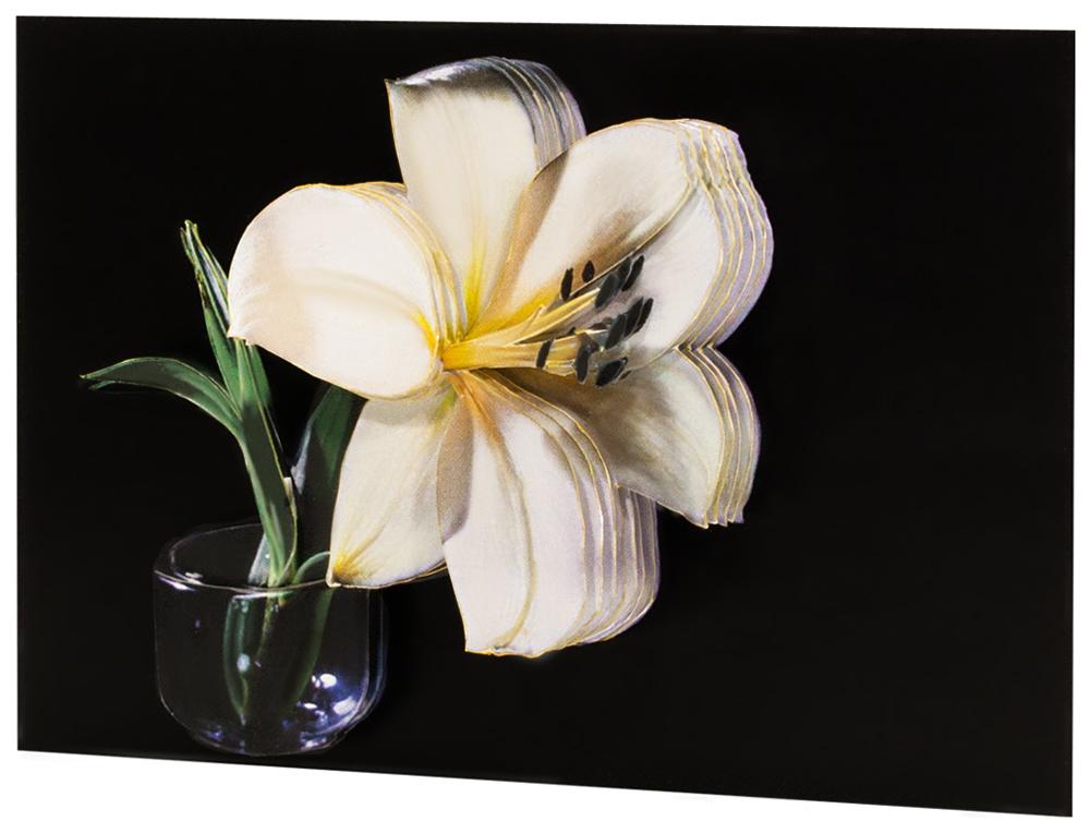 Папертоль Белая лилия — готовая работа, вид сбоку.