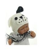 Шапка-зверюшка - На кукле. Одежда для кукол, пупсов и мягких игрушек.