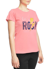 8526-1 футболка женская, розовая