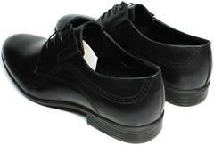 Дерби туфли мужские натуральная кожа Ikos 3416-4 Dark Blue.