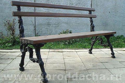 Скамейка чугунная литая «HORSE»