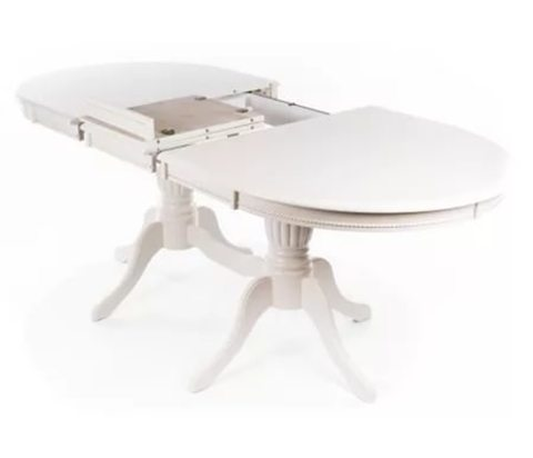 Стол обеденный Olivia-2 раскладной молочный, белый