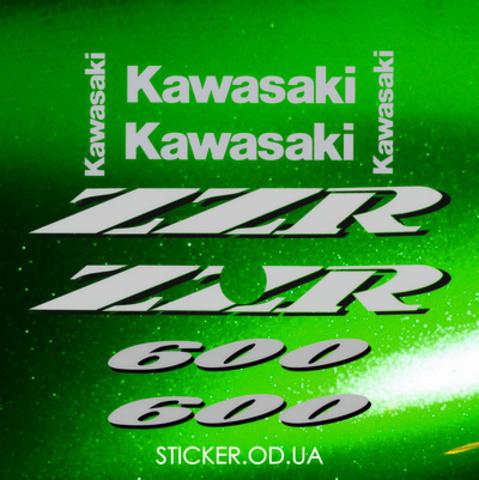 Набор виниловых наклеек на мотоцикл Kawasaki ZZR 600