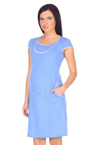Платье 09999 голубой