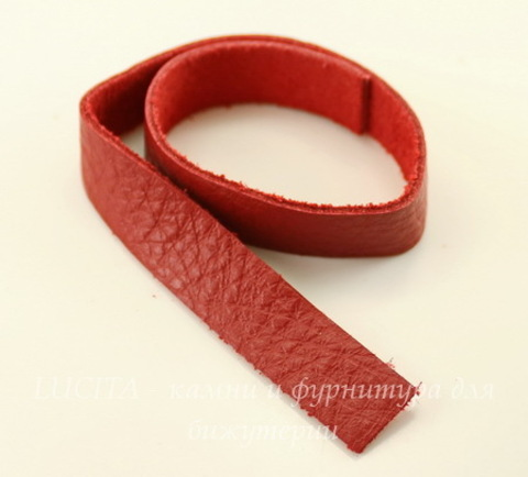 "Основа для браслета TierraCast ""Red"" (кожа) 13х2 мм, 25 см"