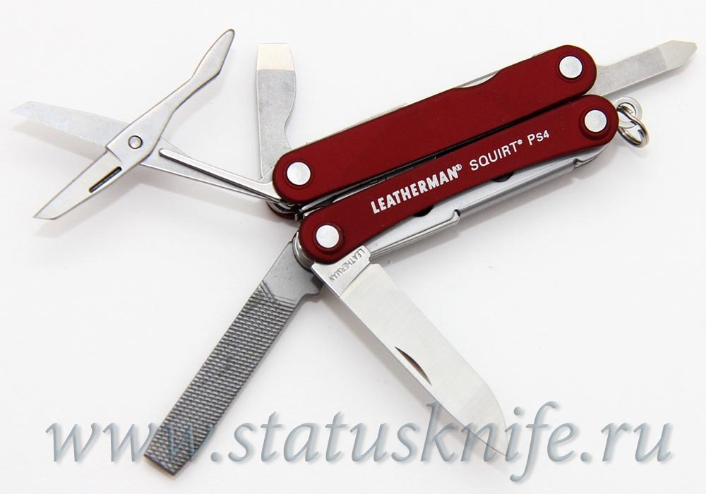Мультитул Leatherman Squirt PS4 красный
