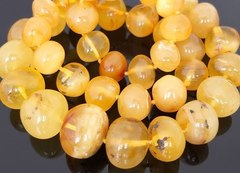 бусы из натурального жёлтого янтаря