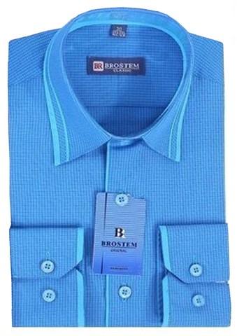 BROSTEM Рубашка для мальчика школьная 7029d бирюзовая