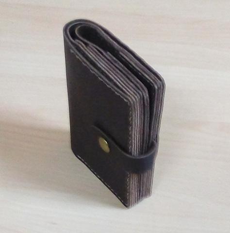Портмоне ручной работы с отделением для паспорта из натуральной толстой кожи MLPK-01
