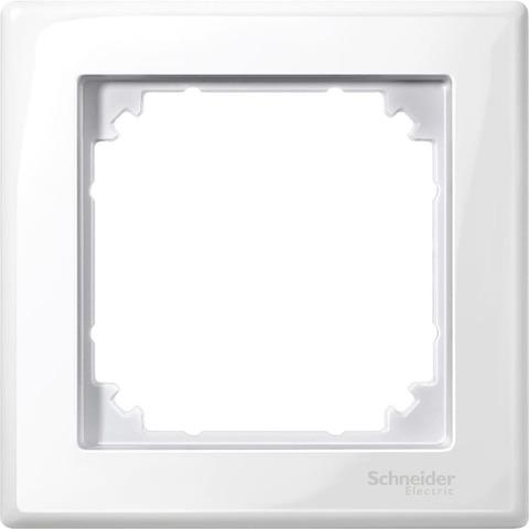 Рамка на 1 пост. Цвет Полярно-белый, блестящий. Merten M-smart. MTN478119