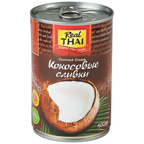 Кокосовые сливки, 95% мякоти Real Thai, 400 г