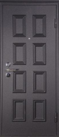 Дверь входная L-4 стальная, орех, 2 замка, фабрика Арсенал