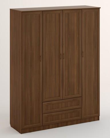 Шкаф ЛОМБАРДИЯ-17 рамочный орех темный
