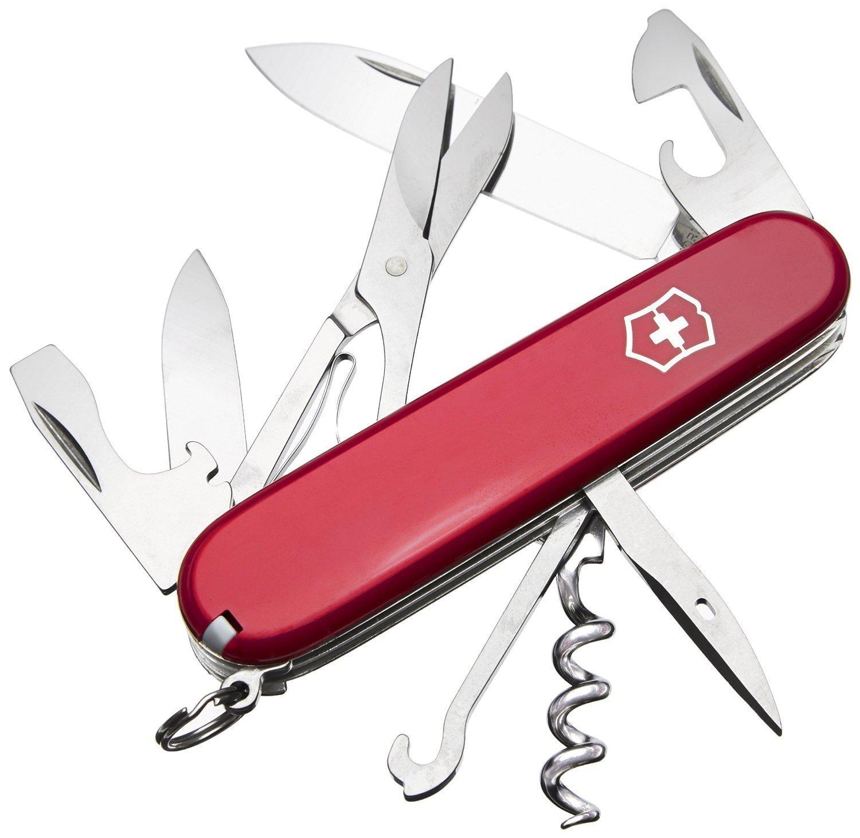 Складной нож Victorinox Climber (1.3703) 91 мм., 14 функций, красный - Wenger-Victorinox.Ru