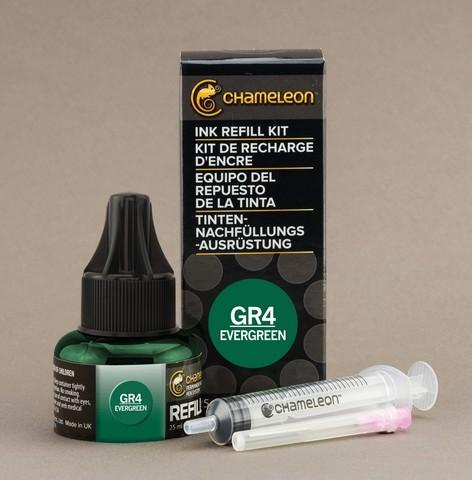 Чернила для маркеров Chameleon глубокие вечнозеленые GR4, 25 мл