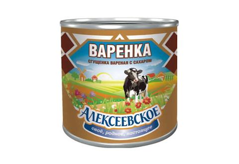Сгущенное молоко Алексеевское с сахаром 4%, 370 г