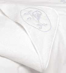 Полотенце детское 100х100 Bovi Синички с капюшоном