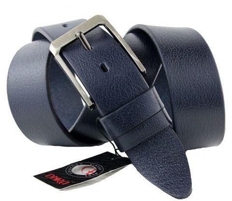 Мужской широкий кожаный тёмно-синий ремень большого размера 45DNKA-B-003