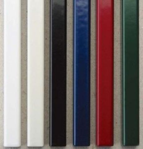 Металлические каналы O.SIMPLE CHANNEL А4 длина 304мм - 28 мм (до 260 листов). Упаковка 25 шт. Цвет: черный, белый. серый, красный, зеленый, синий.