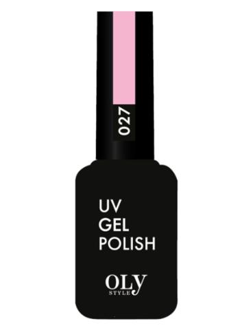 OLYSTYLE Гель-лак д/ногтей тон 027 светло-розовый