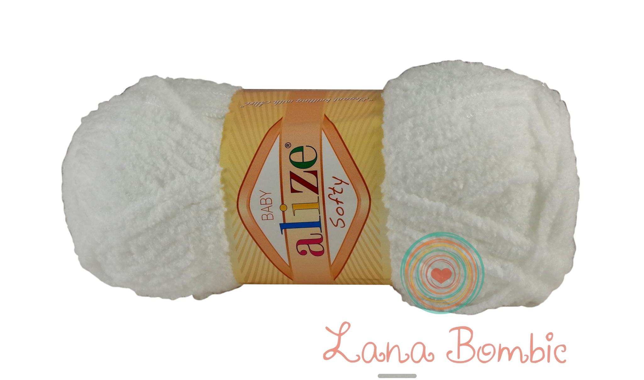 Пряжа Alize Softy белый 55