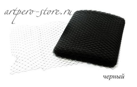 Вуаль, ширина  30 см., черный