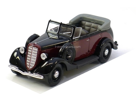 GAZ-M1 Phaeton black- red 1:43 Nash Avtoprom