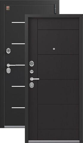 Тёплая дверь входная Легион L-2, 2 замка, 1,5 мм  металл, (чёрный шёлк+венге шоколад)