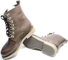 Зимние модные ботинки женские Studio27 576c Broun.
