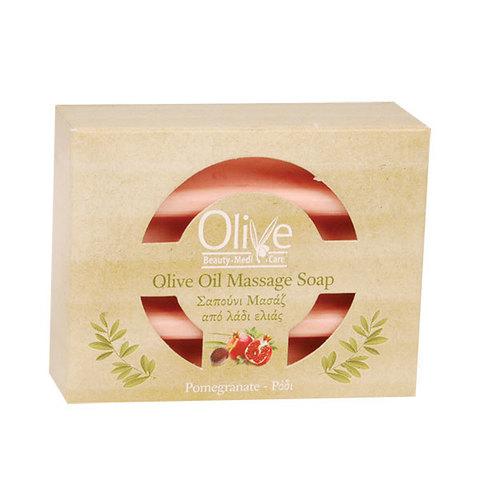 Массажное оливковое мыло с маслом граната Olive Beauty Medi Care 100 гр.