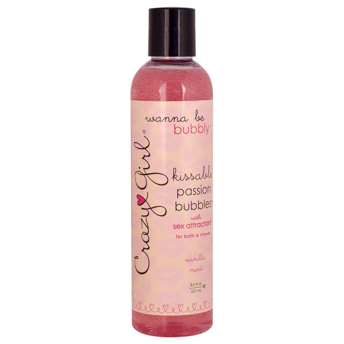 Средства по уходу за телом, косметика: Съедобный гель для душа с феромонами PASSION BUBBLES с ароматом ванили и мяты - 237 мл.
