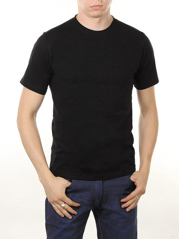 4495-5 футболка мужская, черная