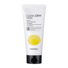 Tony Moly Clean Dew Foam Cleanser Lemon - Осветляющая пенка для умывания для жирной, комбинированной кожи лица экстрактом лимона