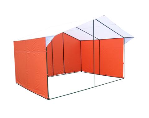Торговая палатка Митек «Домик» 4 х 3 К из квадратной трубы 20х20 мм, тент ПВХ