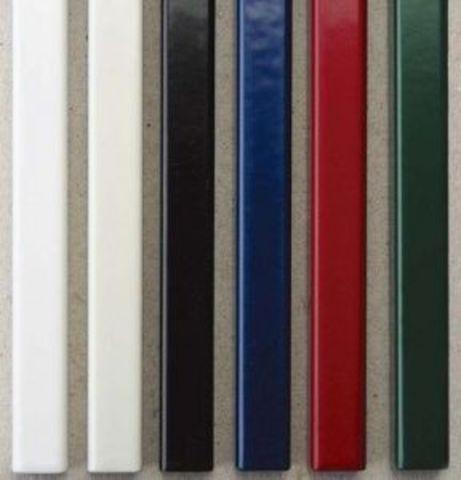 Металлические каналы O.SIMPLE CHANNEL А4 длина 304мм - Mini (до 35 листов). Упаковка 25 шт. Цвет: черный, белый. серый, красный, зеленый, синий