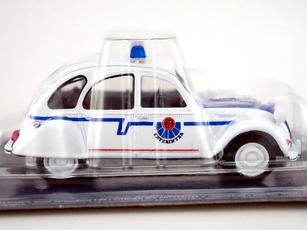 Citroen 2CV Ertzaintza Spain Police 1:43 DeAgostini World's Police Car #64