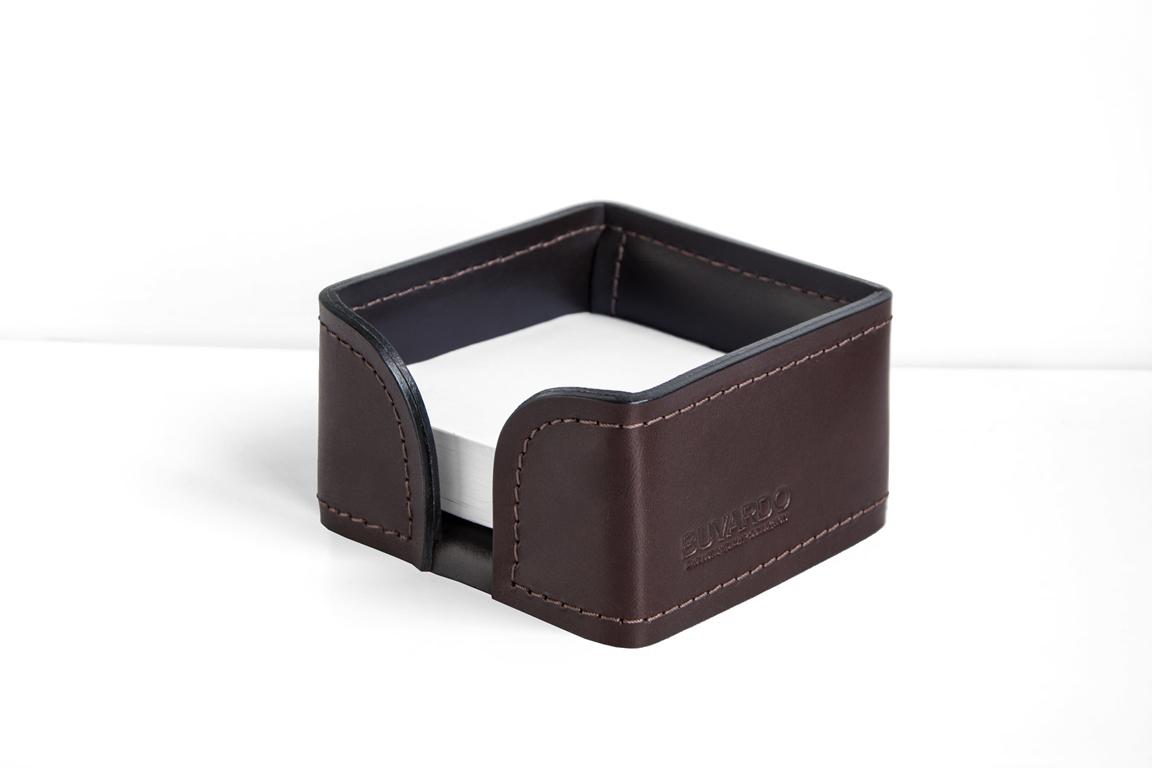 Лоток для блока бумаги BUVARDO PREMIUM из кожи Full Grain Brown/Cuoietto