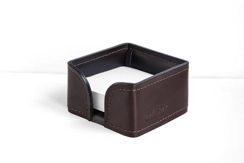 Лоток для блока бумаги BUVARDO PREMIUM из кожи  Full Grain Brown/Cuoietto черный