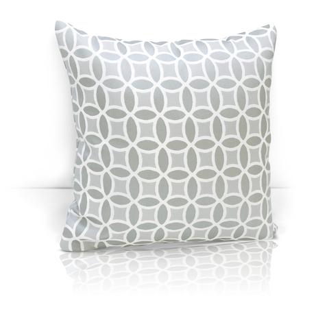 Подушка декоративная из двустороннего жаккарда Любава серый