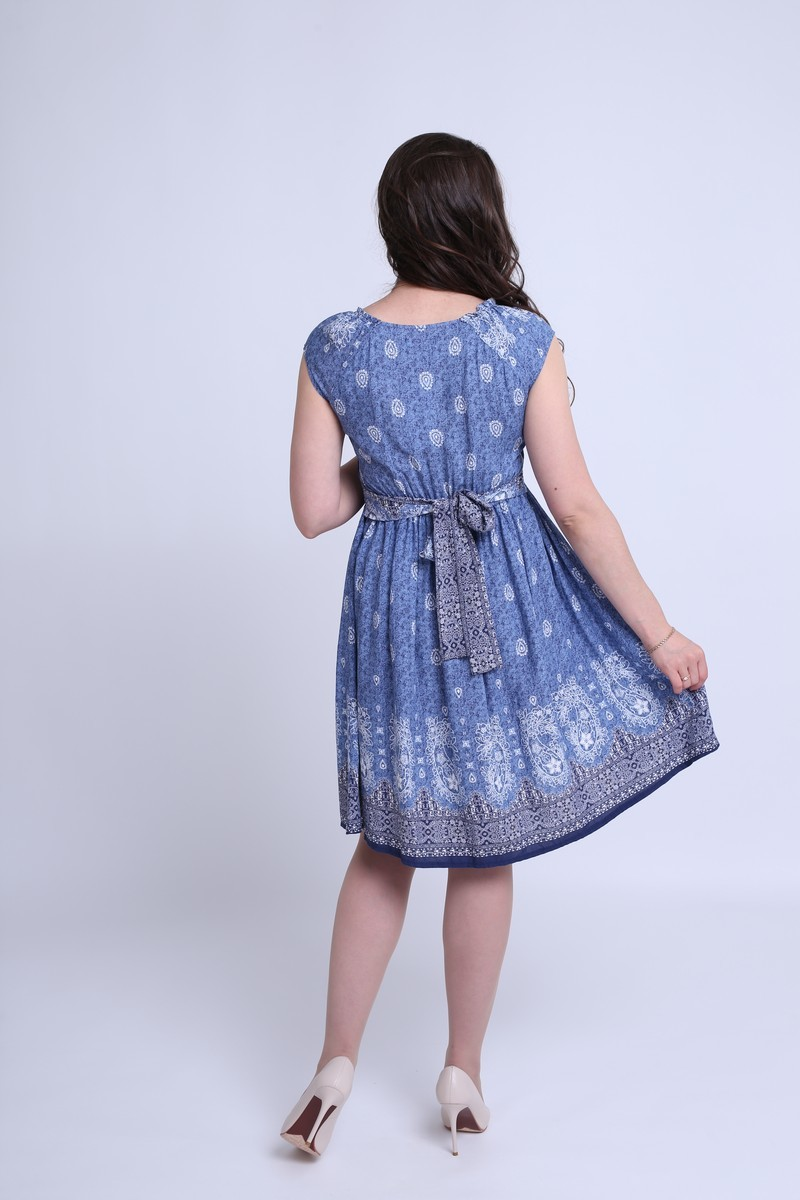 Платье 08368 синий