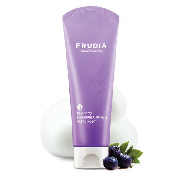 Пенка для умывания увлажняющая с черникой Frudia Blueberry Hydrating Cleansing Gel To Foam 145г