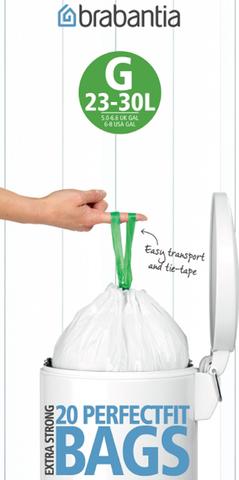 Мешки для мусора PerfectFit, размер G (23-30 л), рулон, 20 шт., арт. 246265 - фото 1
