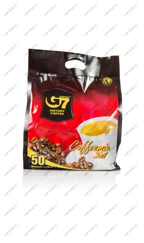 Вьетнамский растворимый кофе G7 3 в 1, 50 пак.