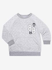 BAC004973 Джемпер для мальчиков, серый меланж