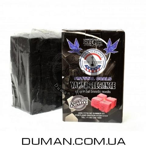 Натуральный кокосовый уголь для кальяна Yahya Elegance (Яхуа Элеганс) | 1кг 72куб 25*25мм