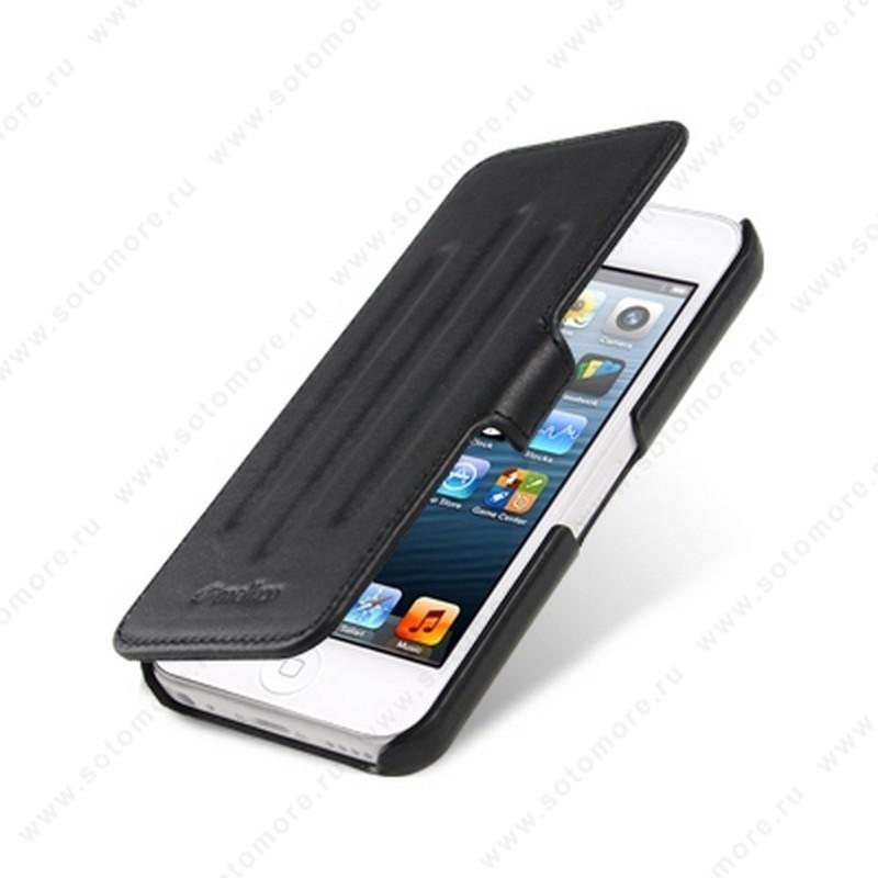Чехол-книжка Melkco для iPhone SE/ 5s/ 5C/ 5 Leather Case Booka Type Craft Limited Edition Prime Verti (Black Wax Leather)