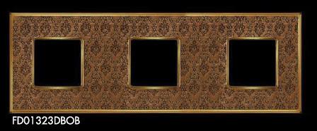 Рамки 3-х постовые для розеток и выключателей коллекция Vinatage Tapestry Collection Decorbrass Bright Gold